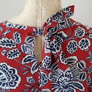 Madewell Tops - Madewell Silk Bow Tank in Italian Floral